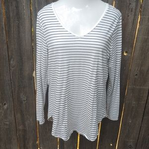 Old Navy White With Black Stripes Tunic